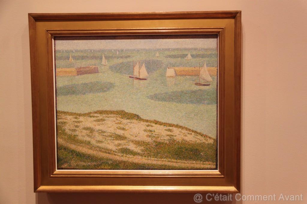 Georges Pierre Seurat - Port en Bessin (spécial dédicace à cheri Normand)