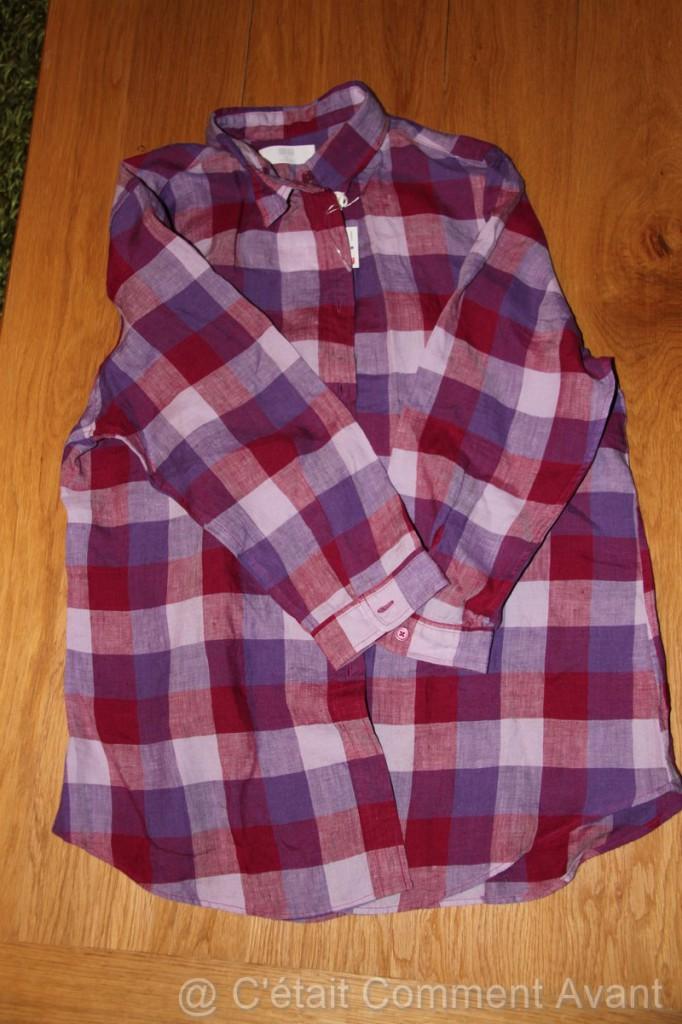 Ma chemise de bûcheronne :-)