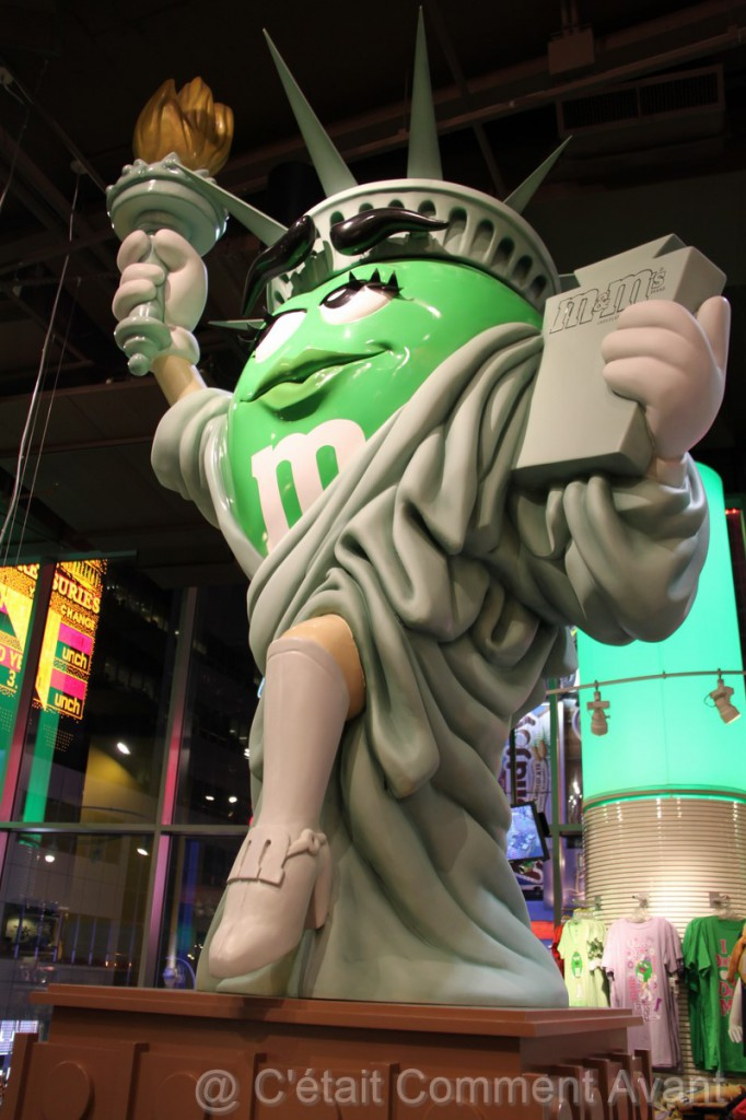 La statue de la Liberté M&M's nous accueille