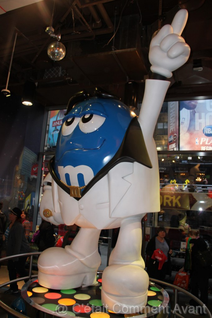 M&M's bleu en mode star :-)