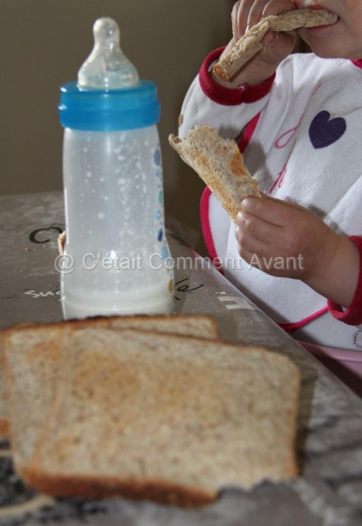 Etre fan de pain de mie au petit déj et entamer toutes les tranches !