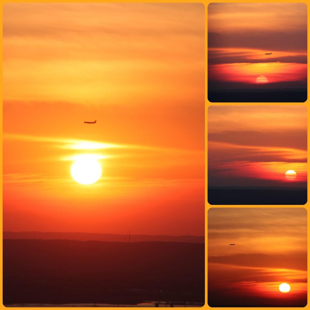 coucher de soleil sur le New Jersey