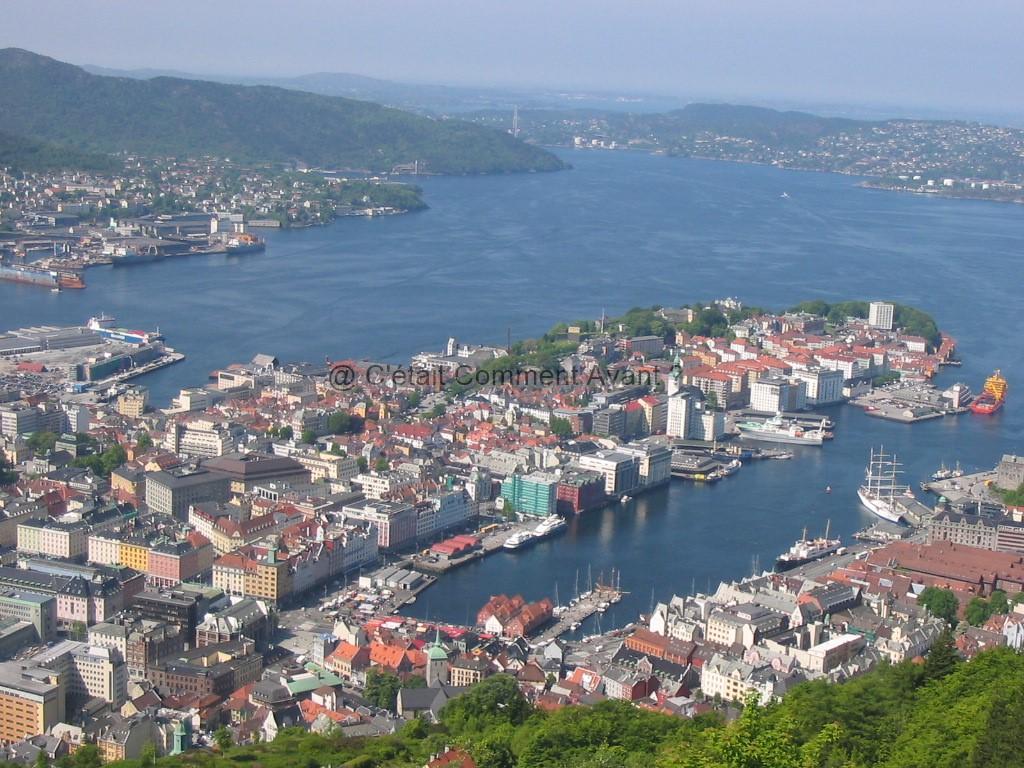 Vue sur Bergen (Norvège)