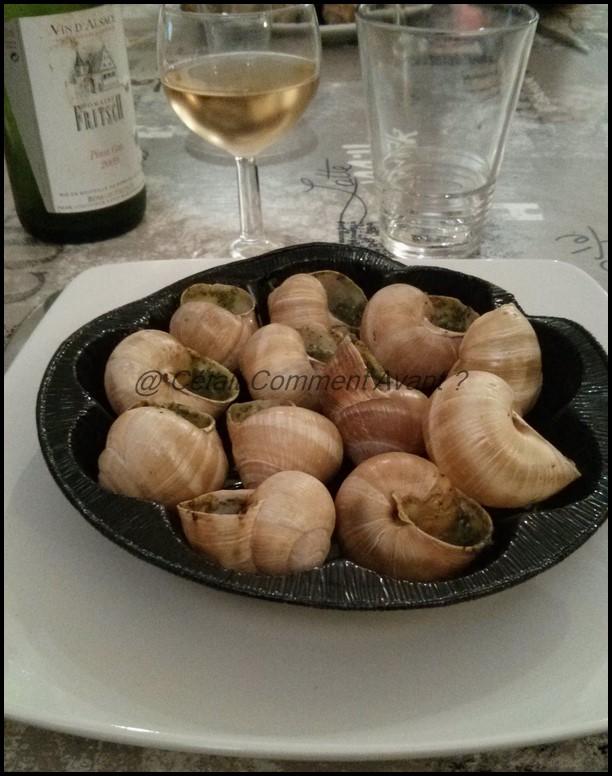Et manger des escargots arrosés d'un pinot gris