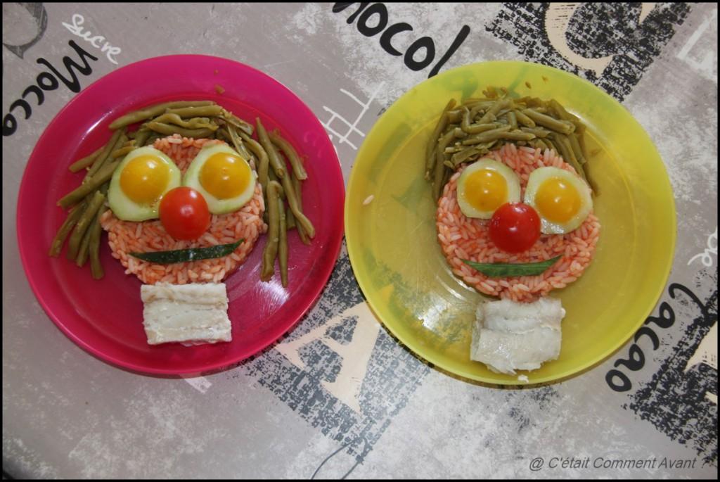 Continuer à se marrer avec les assiettes rigolotes :)