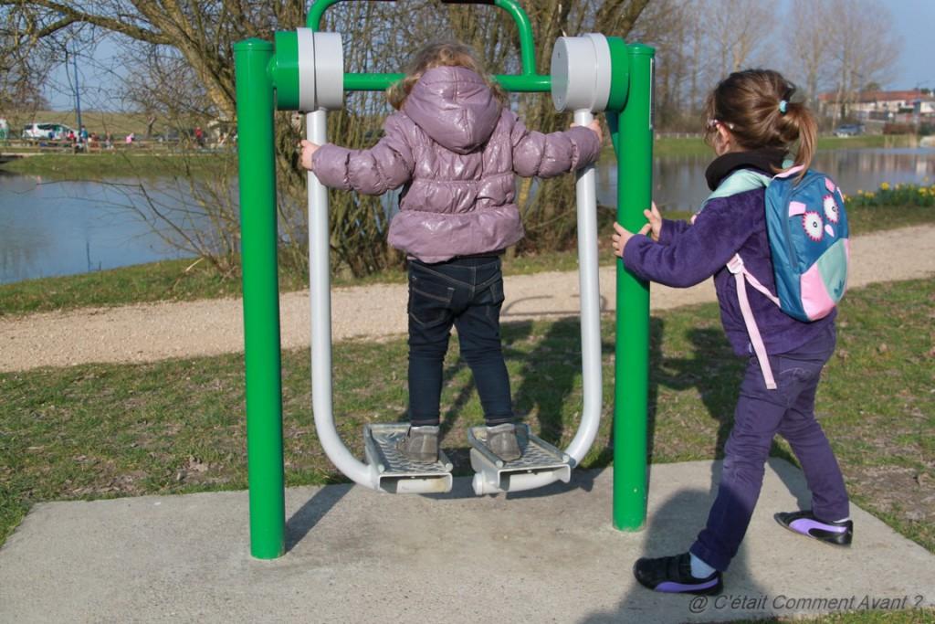 Faire un peu de sport à l'étang du parc