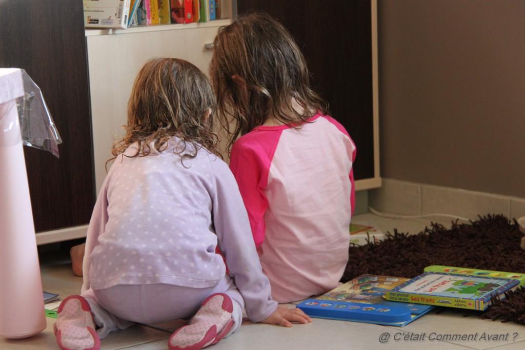 Lire ensemble après le bain <3 <3