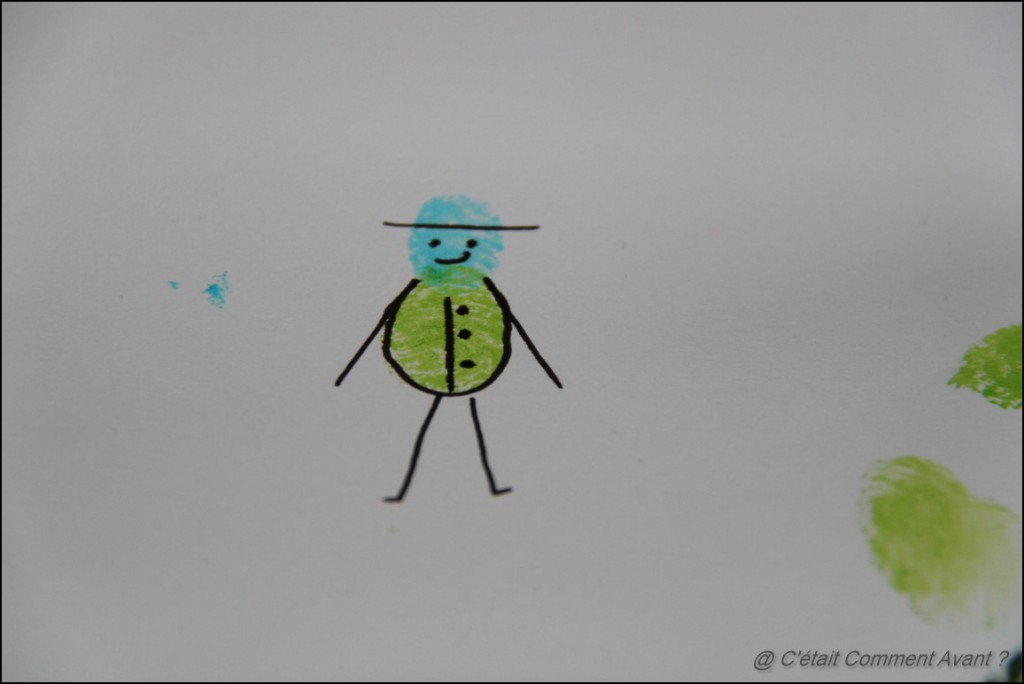 Faire des dessins avec les empreintes
