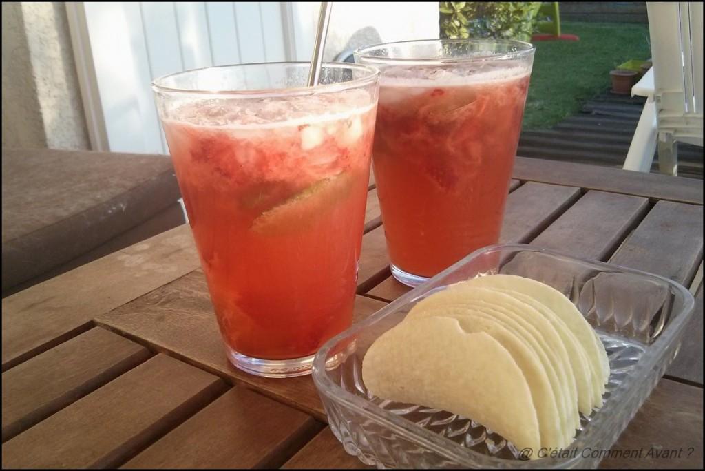 Préparer un mojito fraise