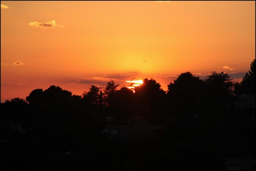 Apprécier le coucher du soleil