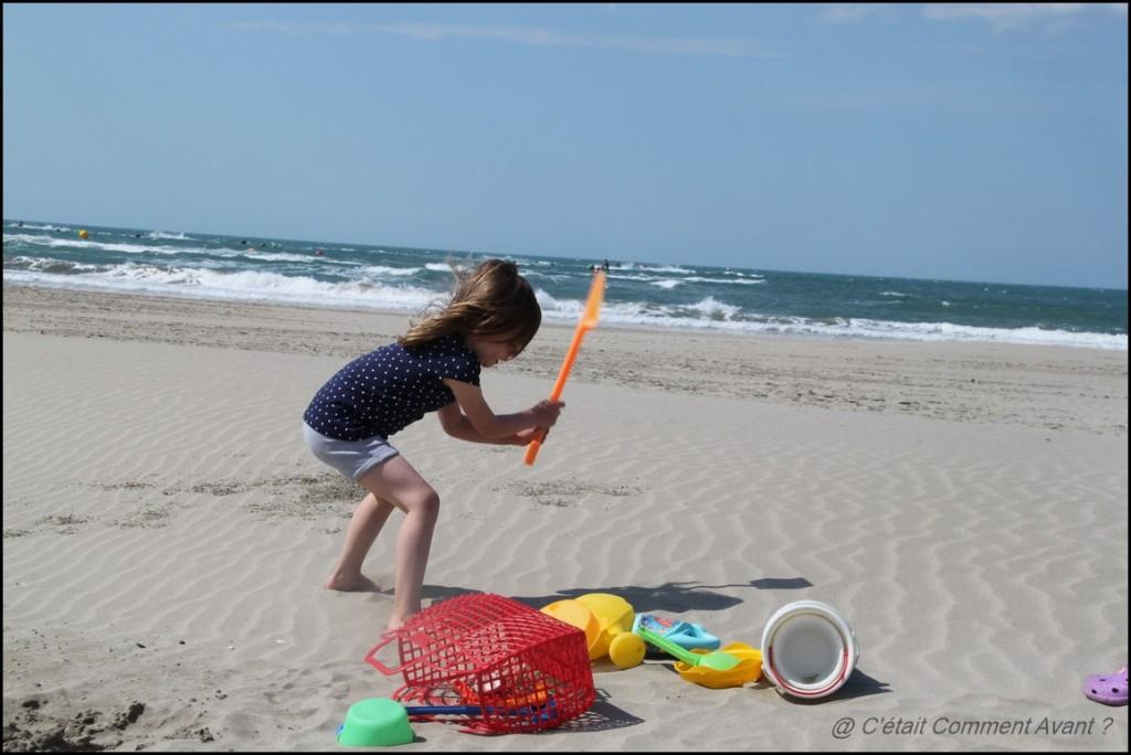 Jouer dans le sable