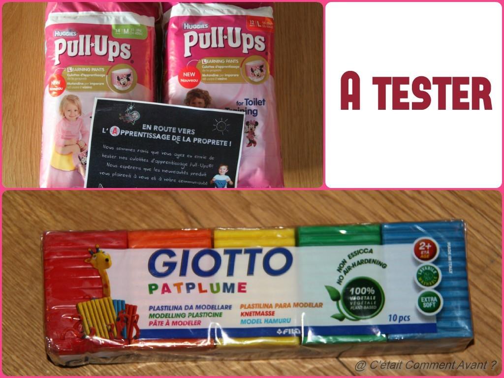 Recevoir des couches et de la PatPlume pour tester.