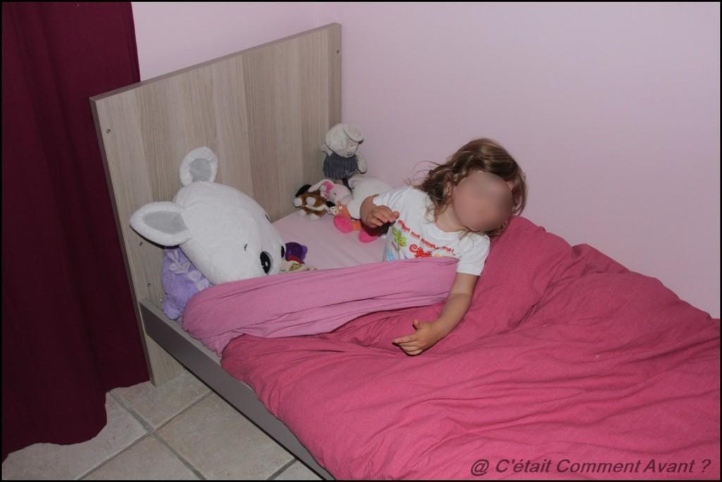 Etre trop fière de son lit de grande