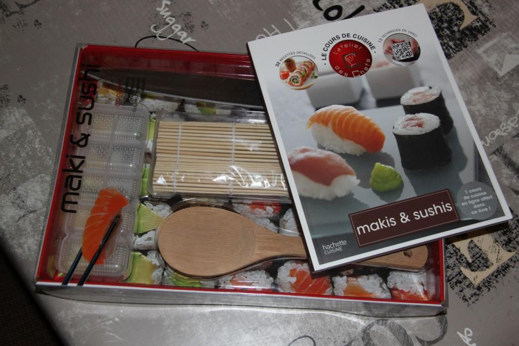 Recevoir le kit sushi commandé pour la fête des papas