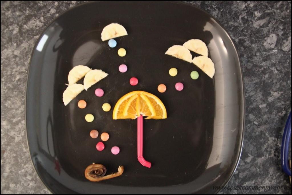 La pluie, les nuages et le parapluie (Orange, banane, bonbon et paille)