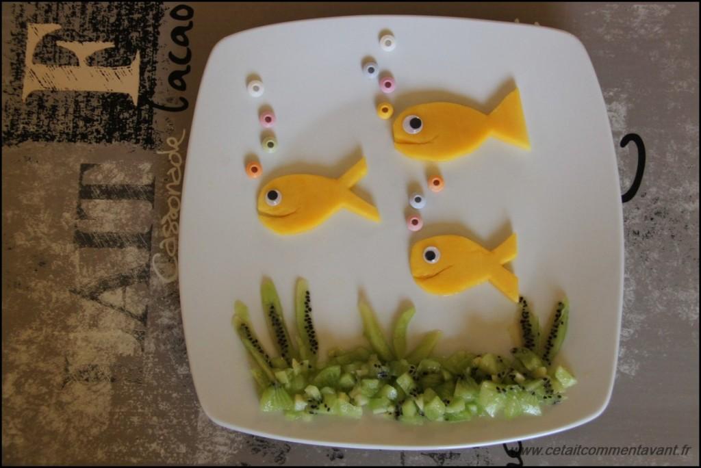 Le monde sous marin, dans mes préférence aussi) (mangues, kiwi, bonbons)