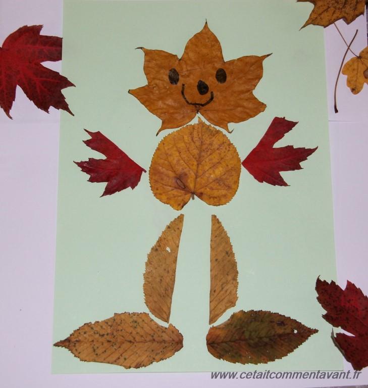 Faire des bonhommes en feuilles