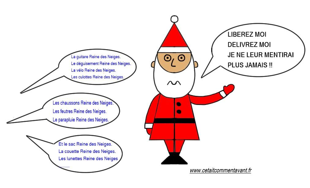 Penser que le père Noël craque !