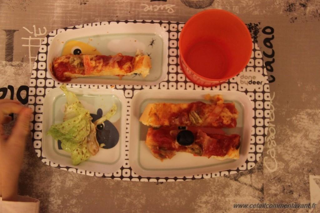 Plateau repas pizza !